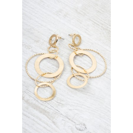 Dansk Smykkekunst Alyssa Double Circle Earring  - Gold