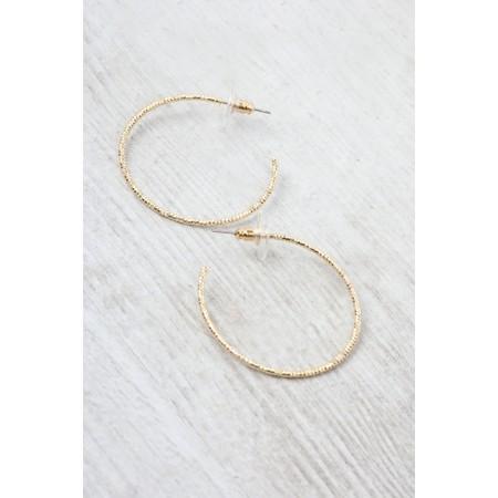 Dansk Smykkekunst Alyssa Circles Hoop Earring - Gold