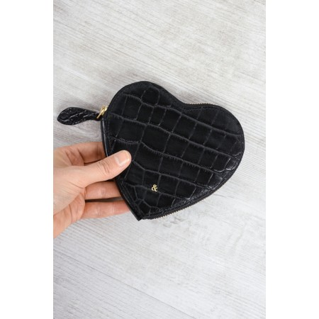Bell & Fox Cupid Heart Shaped Purse - Black