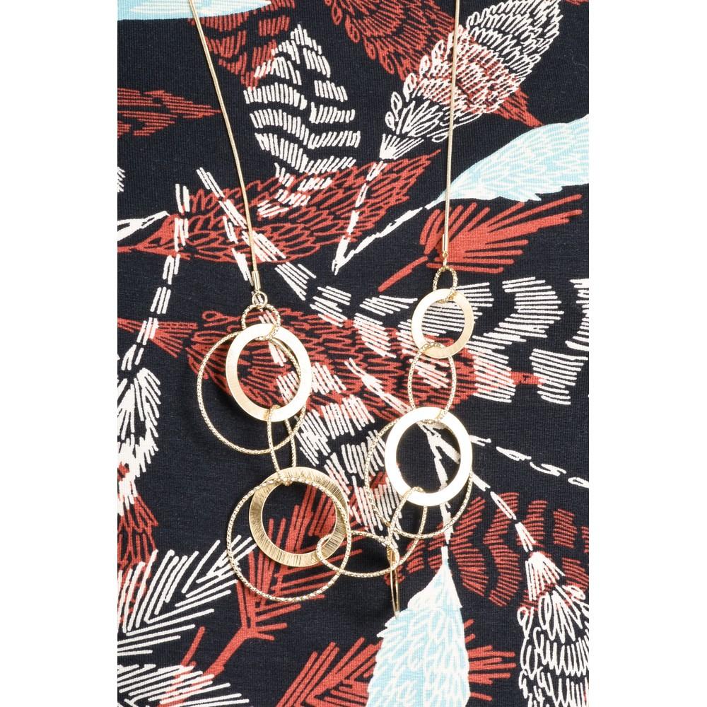 Dansk Smykkekunst Alyssa Double Circles Necklace Gold
