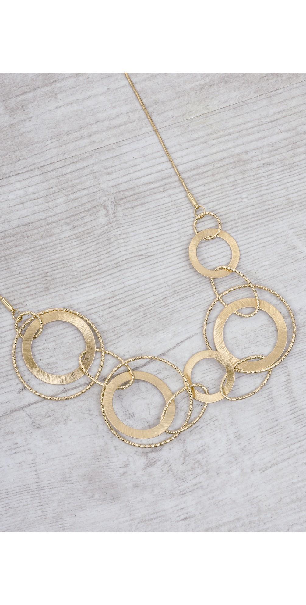 Alyssa Double Circles Necklace main image