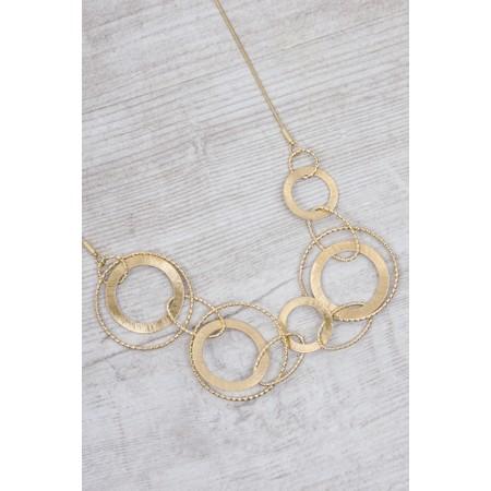 Dansk Smykkekunst Alyssa Double Circles Necklace - Gold