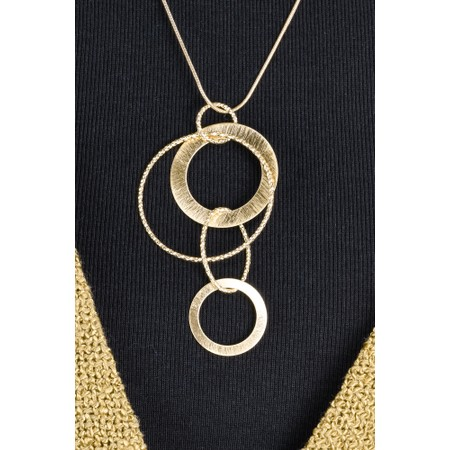 Dansk Smykkekunst Alyssa Circle Necklace  - Gold
