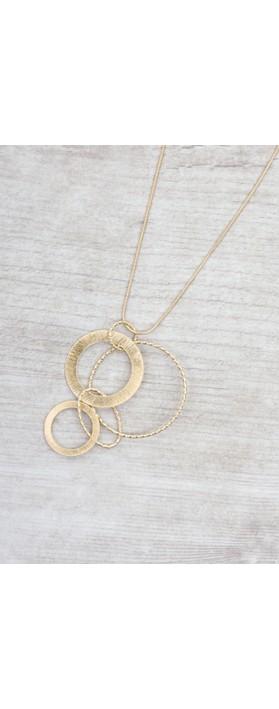 Dansk Smykkekunst Alyssa Circle Necklace  Gold