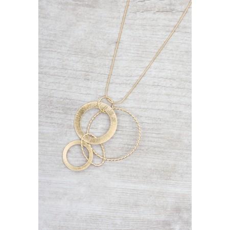 Dansk Smykkekunst Alyssa Circle Necklace  - Gold