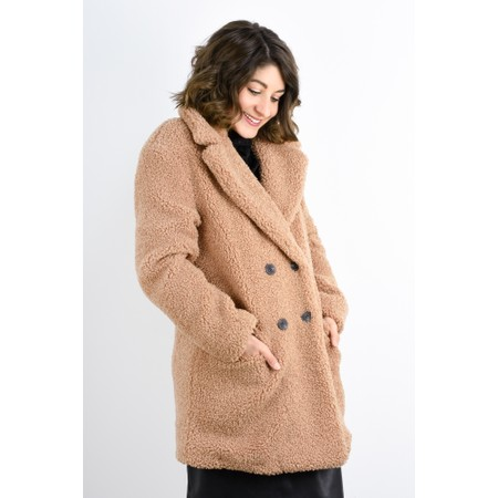 RINO AND PELLE Pien Teddy Oversized Coat - Pink