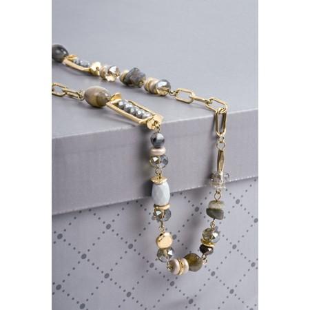 Eliza Gracious Ayrs Long Necklace - Grey