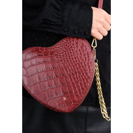 Bell & Fox Armour Heart Shape Cross Body Bag - Red