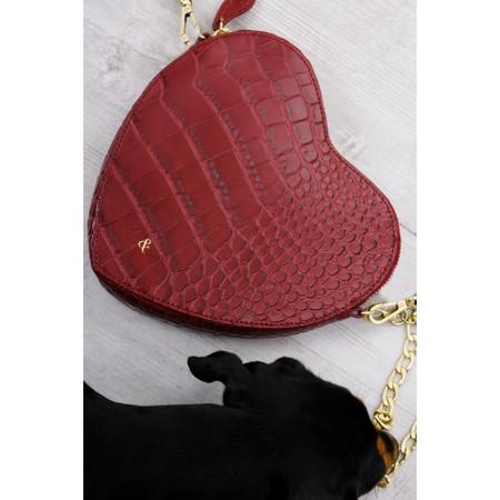 Bell & Fox Armour Heart Shape Cross Body Bag - Red