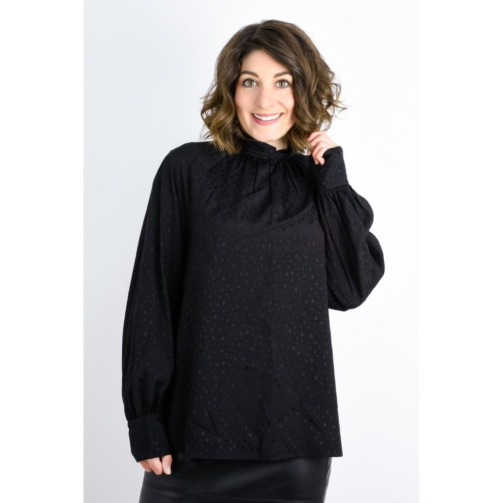 Expresso Koko Star Print Blouse Black