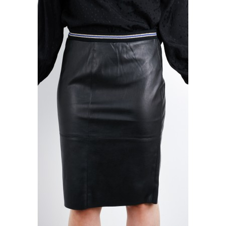 Expresso Koreen Faux Leather Skirt - Black