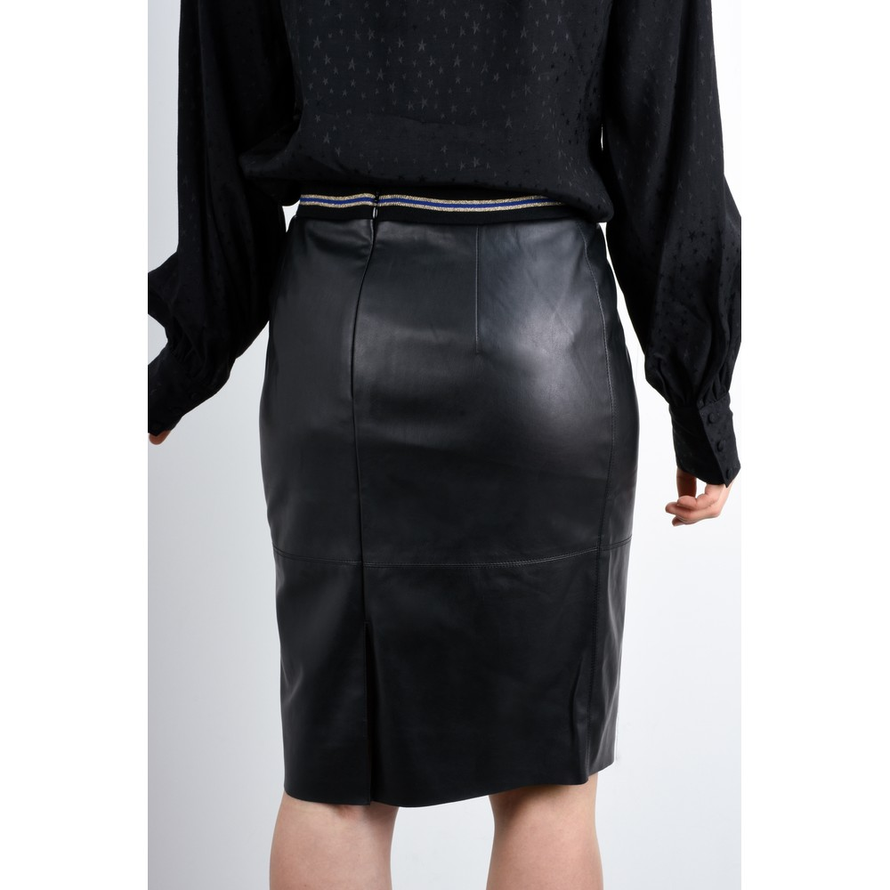 Expresso Koreen Faux Leather Skirt Black