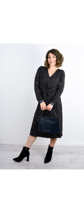 Expresso Kathy Printed Wrap Dress Black