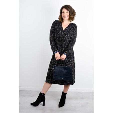 Expresso Kathy Printed Wrap Dress - Black