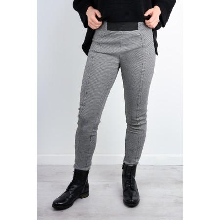 Foil Seams Legit Textured Slim Trousers - Blue