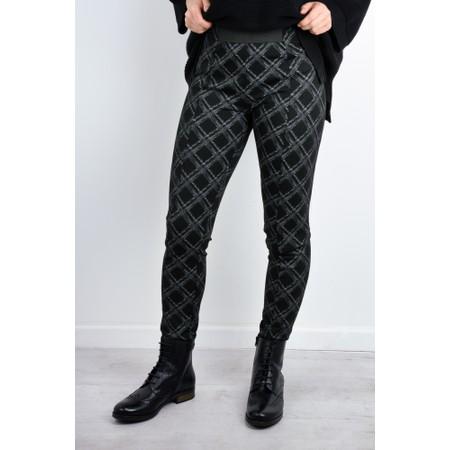 Foil Seams Legit Textured Slim Trousers - Multicoloured