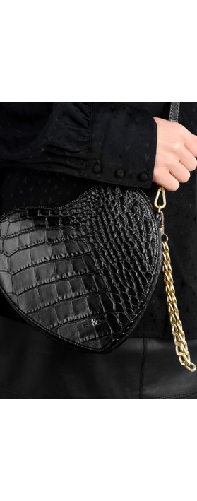 Bell & Fox Armour Heart Shape Cross Body Bag Black