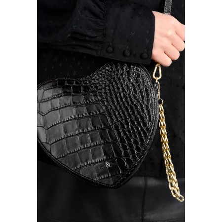 Bell & Fox Armour Heart Shape Cross Body Bag - Black
