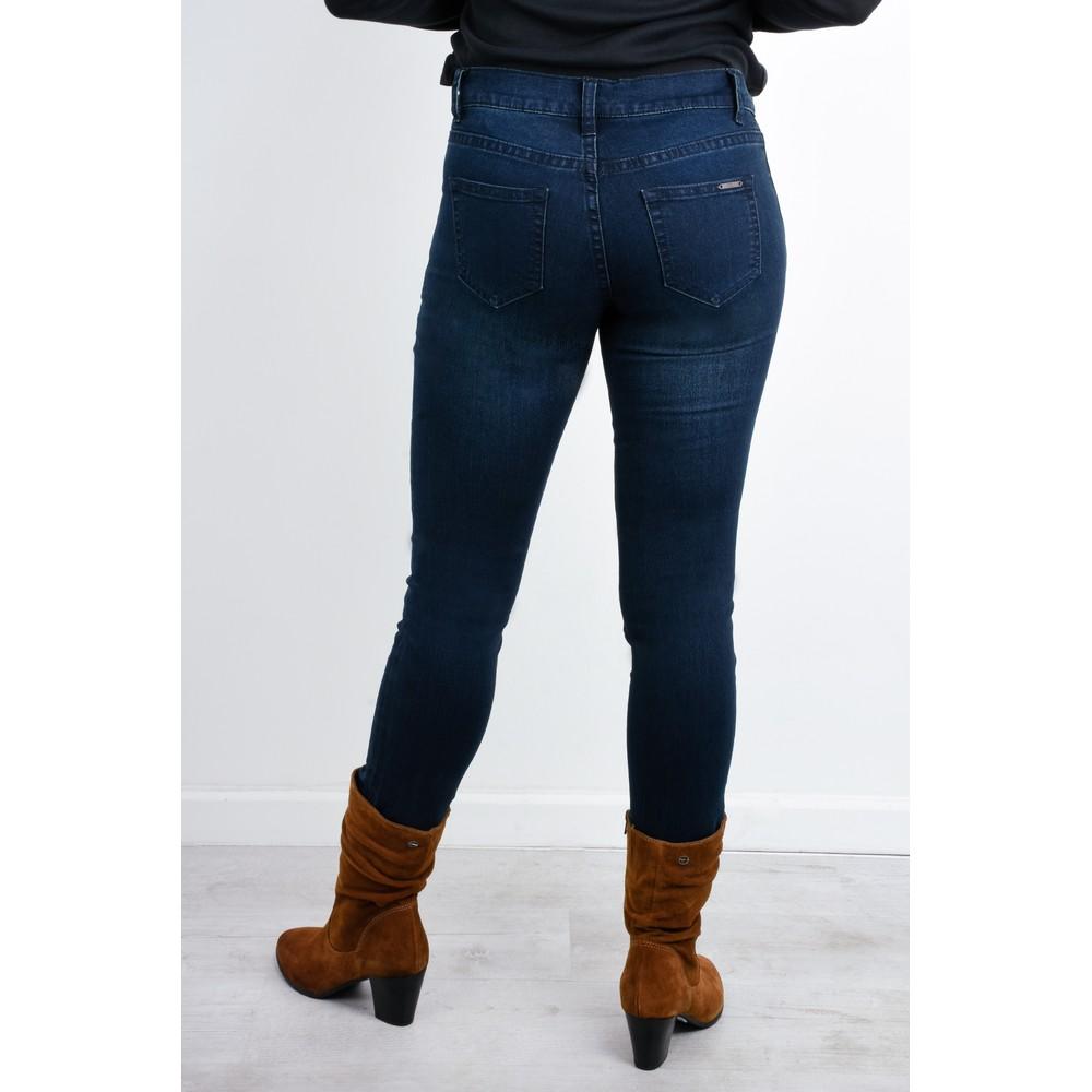 Foil Lucy Girlfriend Jeans Indigo