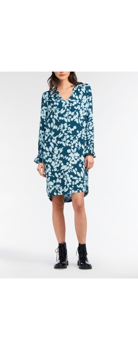 Sandwich Clothing Bold Floral Print Dress Emerald