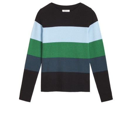 Sandwich Clothing Stripe Print Jumper - Black
