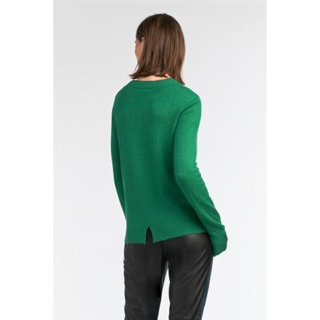 Sandwich Clothing Round Neck Detail Jumper - Green
