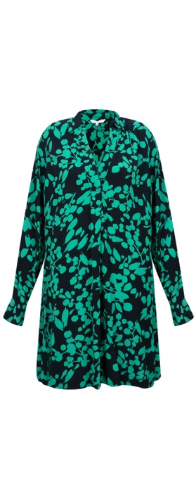 Sandwich Clothing Bold Floral Print Tunic Apple