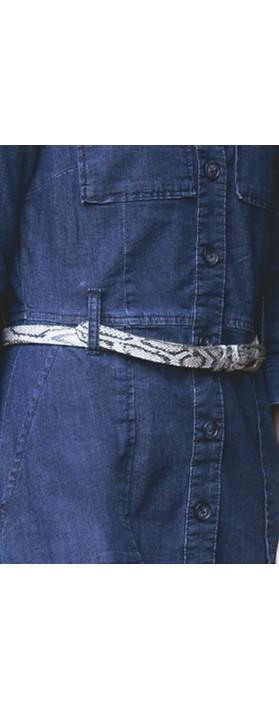Sandwich Clothing Snakeskin Belt Anthracite