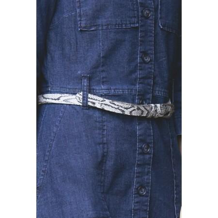 Sandwich Clothing Snakeskin Belt - Grey