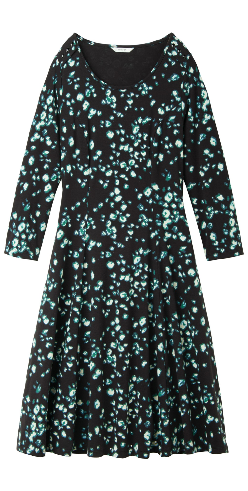 Abstract Print Fit and Flare Dress main image