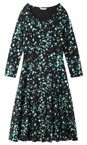 Sandwich Clothing Black Abstract Print Fit and Flare Dress