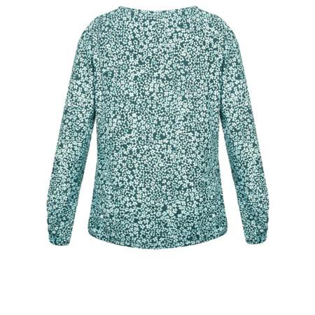Sandwich Clothing Ditsy Floral Print Long Sleeve T-Shirt  - Blue