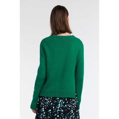 Sandwich Clothing Chunky Cable Knit Jumper - Green