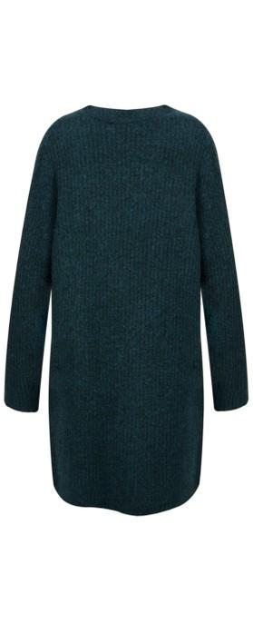 Sandwich Clothing Chunky Knit Cardigan Emerald HTR