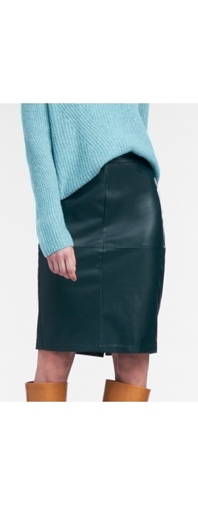 Sandwich Clothing Faux Leather Pencil Skirt  Emerald