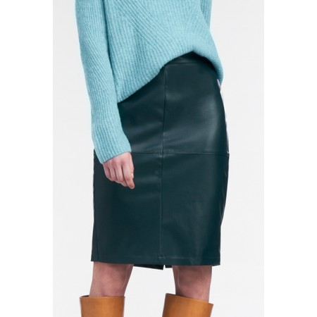 Sandwich Clothing Faux Leather Pencil Skirt  - Green