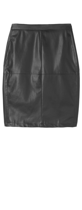 Sandwich Clothing Faux Leather Pencil Skirt  Black