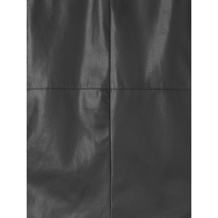 Sandwich Clothing Faux Leather Pencil Skirt  - Black