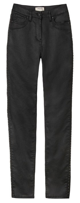 Sandwich Clothing Slim Fit Stud Detail Trousers Black