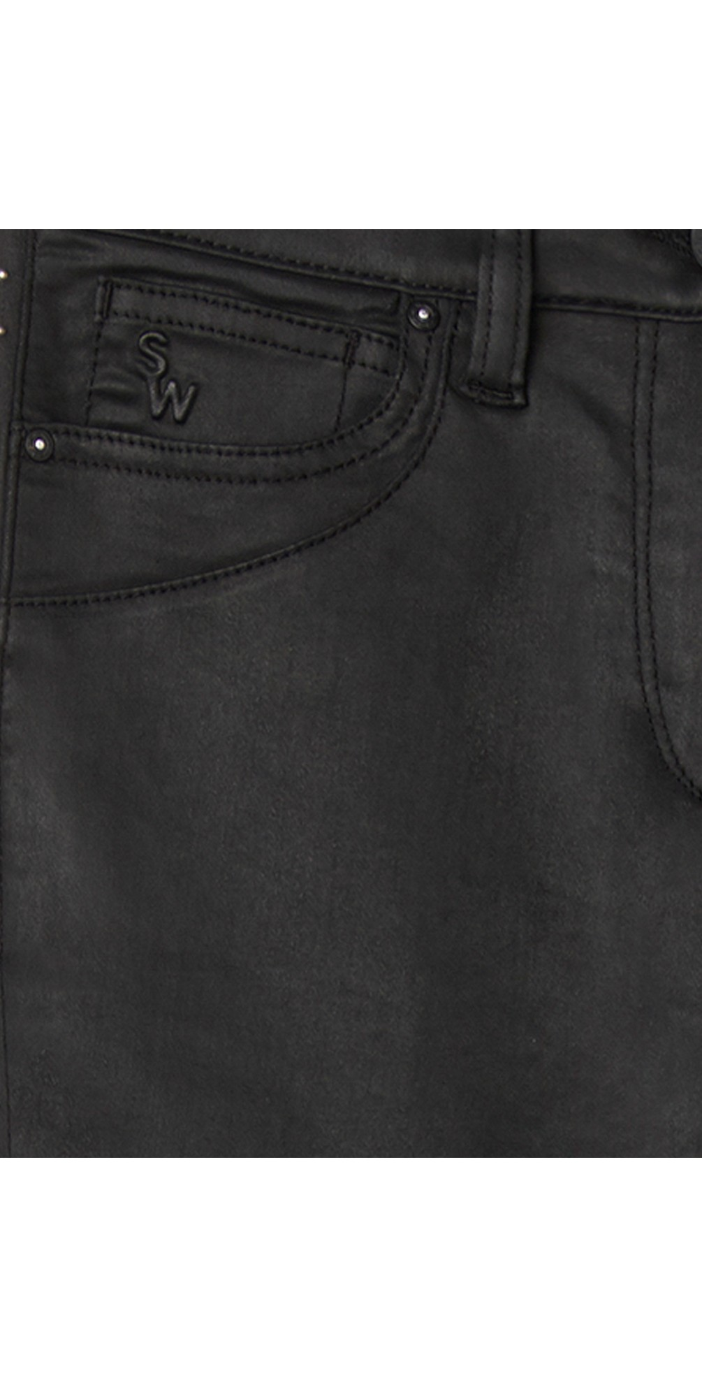 Slim Fit Stud Detail Trousers main image