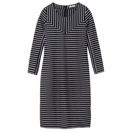 Sandwich Clothing Striped Print Jersey Dress  - Black