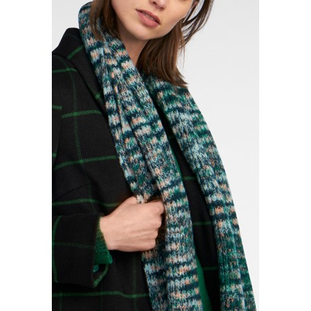 Sandwich Clothing Chunky Knit Multi Scarf  - Green