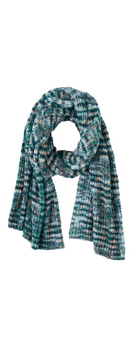 Sandwich Clothing Chunky Knit Multi Scarf  Emerald