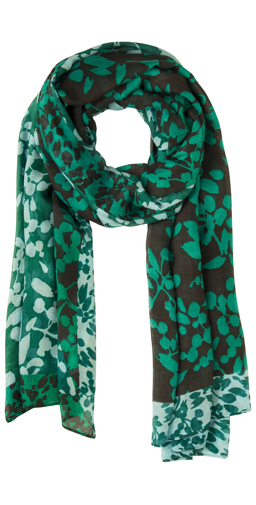 Floral Print Two Tone Scarf  main image