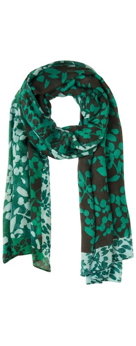 Sandwich Clothing Floral Print Two Tone Scarf  Apple