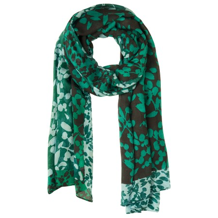 Sandwich Clothing Floral Print Two Tone Scarf  - Green