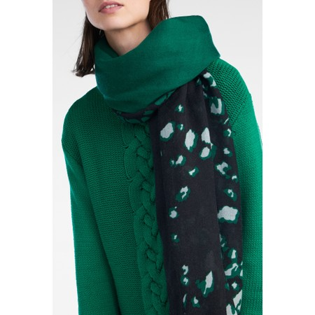 Sandwich Clothing Oversized Block Multi Print Scarf - Green