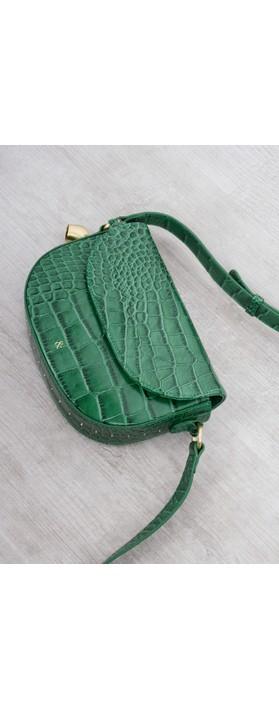 Bell & Fox Callie Mini Saddle Cross Body Bag Holly Green