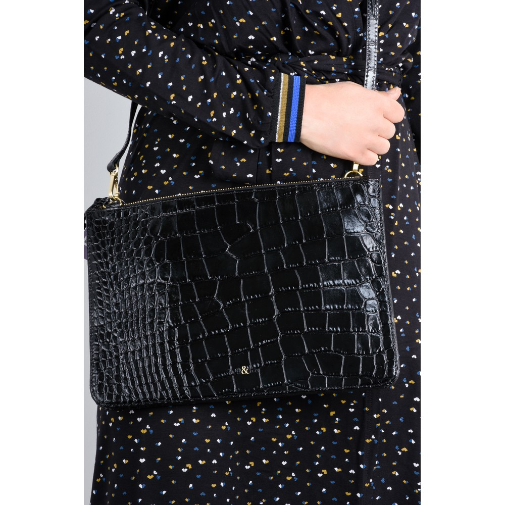 Bell & Fox Gia Oversized Clutch/Cross Body Bag Black