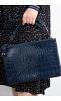 Bell & Fox Navy Gia Oversized Clutch/Cross Body Bag